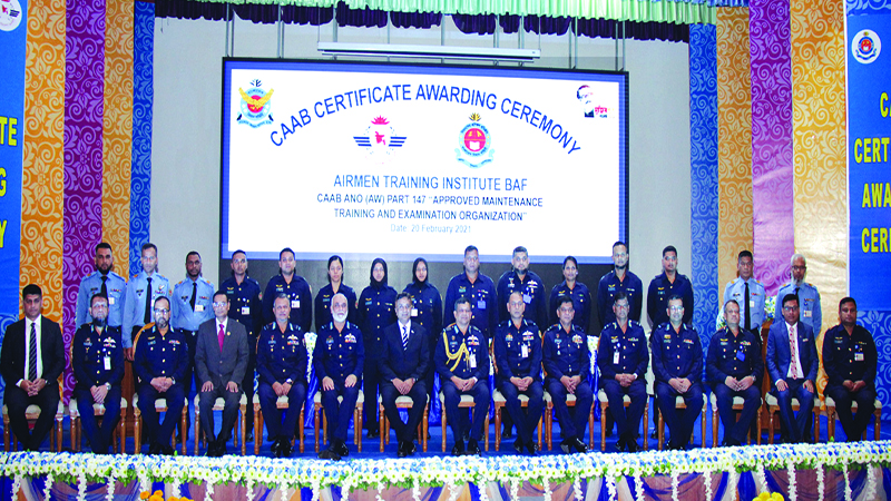 Training institute of Bangladesh air force receives award from CAAB
