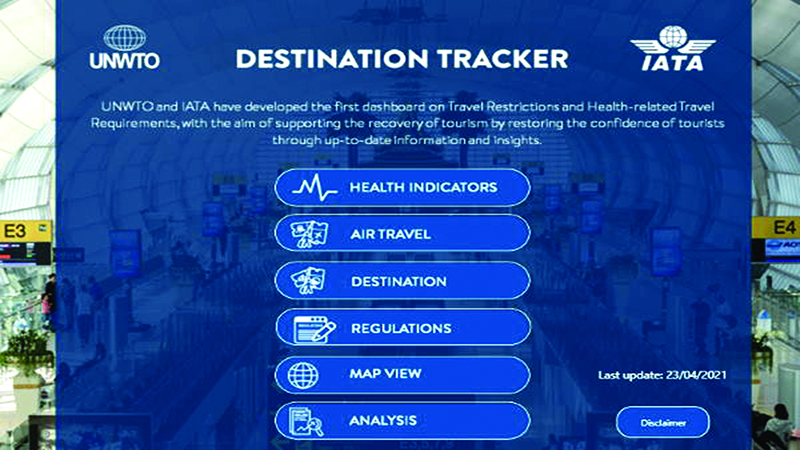 UNWTO partners with IATA for new Covid-19 tracker
