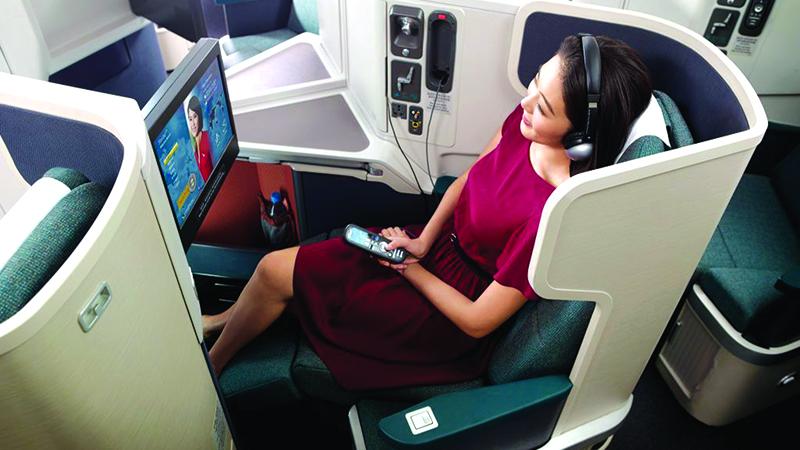Cathay Pacific eases mask restrictions for premium passengers