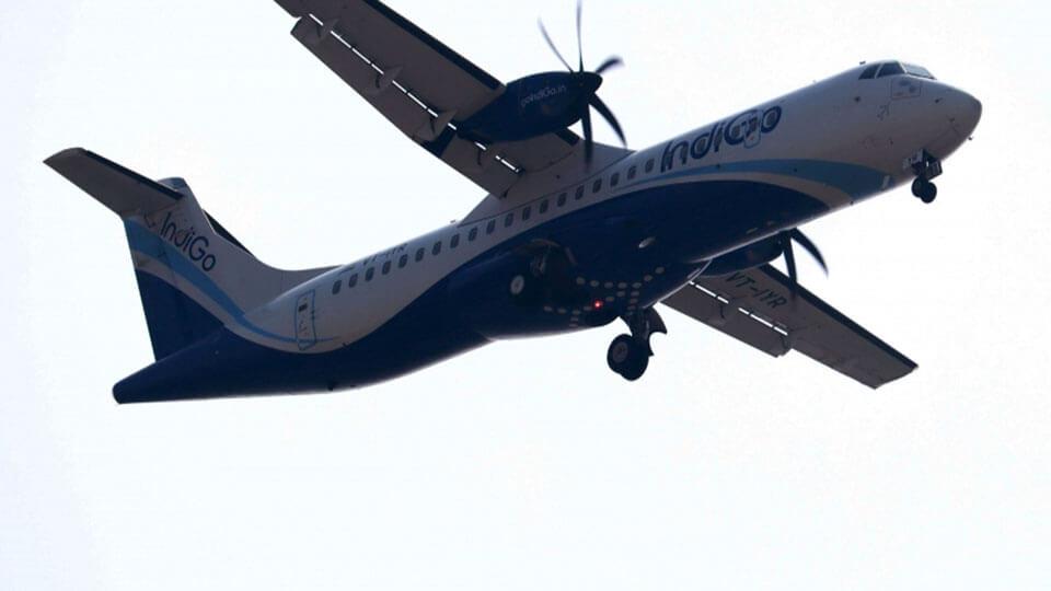 ATR-72 aircraft of  IndiGo suffers critical nose gear failure on landing