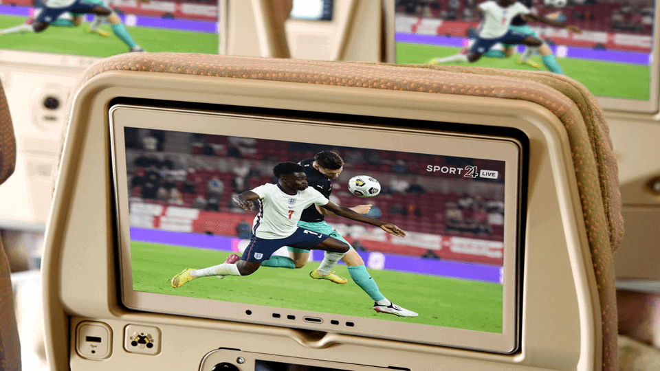 Emirates offers live sports on board during summer