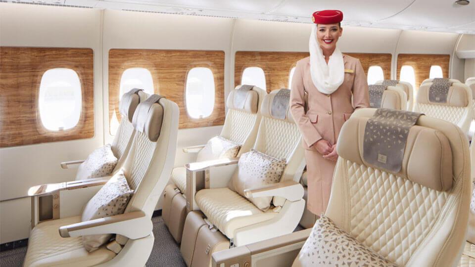 Emirates unveils Premium Economy  cabin in  A380 aircraft
