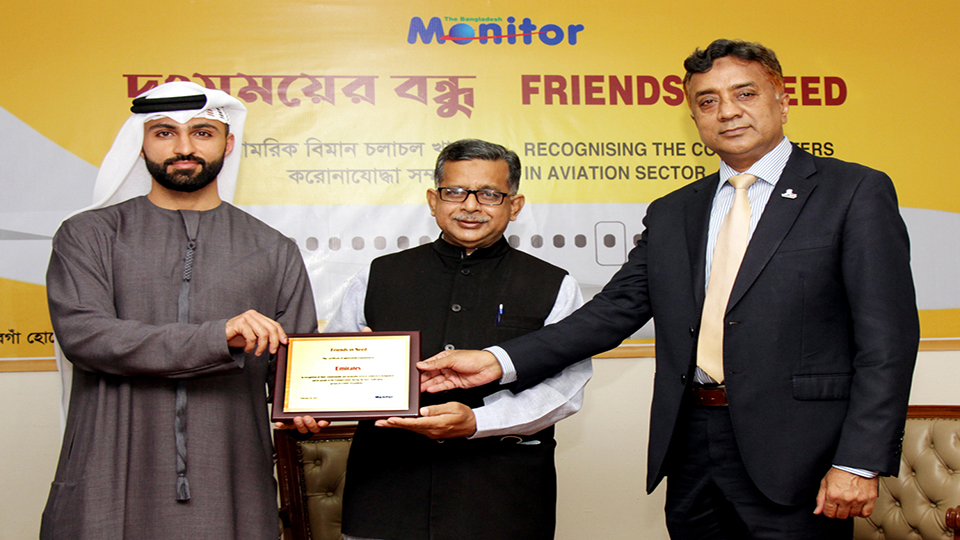 "Emirates recognised as ""Friend in Need"" at The Bangladesh Monitor Awards"