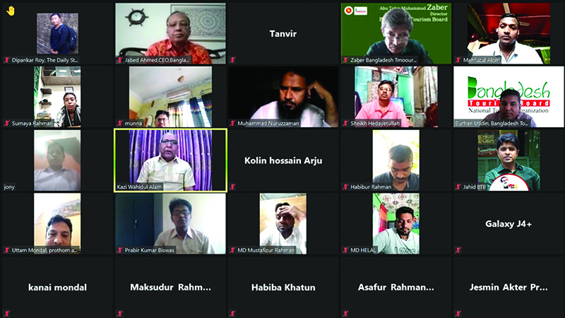 BTB's webinar for Khulna's journalists to enhance work capacity on tourism